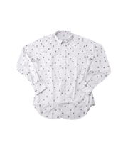 ロゴドット柄シャツ