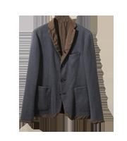 ×カラー DOVER 切替デザインテーラードジャケット