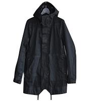 ハイネックフード付き ロングコート