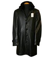 ラムレザー 中綿入りコート