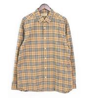 【18SS】胸ポケット チェックコットン長袖シャツ