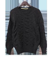 霜降りウールローゲージニットセーター