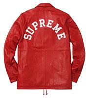 x Supreme レザーコーチジャケット
