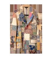 コブラン織りパッチワークジャケット
