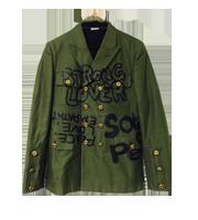 15SS ペイントミリタリージャケット