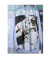 アストロノートプリントシャツ