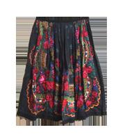 14SS チロリアンフラワー柄スカート