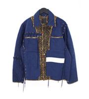 裏地総柄レースデザインキルティングジャケット