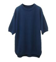 ×SAKAKI ニット鹿の子Tシャツ