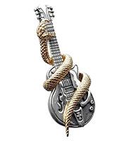 18Kヘルズ ギターペンダント