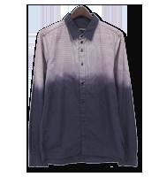 グラデーション切替え長袖シャツ