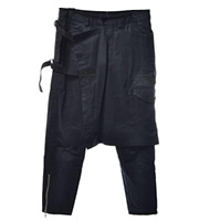 15AW スカート付バイカーパンツ