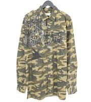 16SS グラフィティペンキ加工 カモフラシャツ