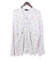 16SS 変形ビッグシルエット チェックシャツ