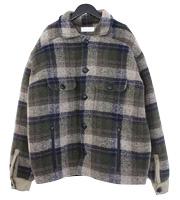 中綿チェックオーバーサイズジャケット