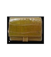 クロコレザー二つ折り財布
