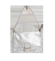 マンマバケット ロゴデザインレザーハンドバッグ