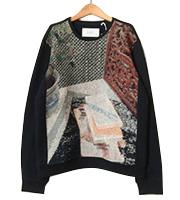 14aw フロントグラフィックセーター