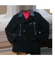 BLACK MINT レザー切替ウールコート