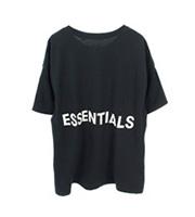 ESSENTIALSバックロゴ オーバーサイズTシャツ 長袖シャツ