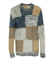 パッチワークニットセーター