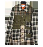 14SSフロントポケットデザインチェックシャツ