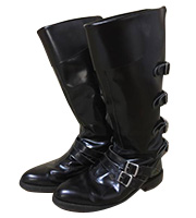 x JUVENILE HALL ROLLCALL レザーストラップ ブーツ