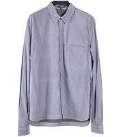レザー長袖シャツ