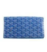 ロゴ総柄二つ折り長財布