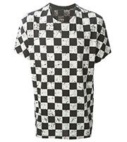 チェッカーフラッグ柄Tシャツ