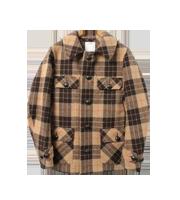 ×ビズビム チェック柄ウールジャケット