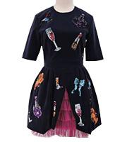 ビーズ装飾ドレス