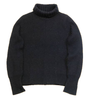 13AW ヘリンボーンタートルネックニットセーター