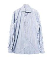 ストライプ柄ロングスリーブシャツ