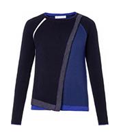 2014AWバイカラーニットセーター