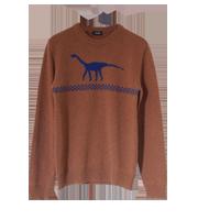 恐竜柄ニットセーター