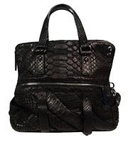 ヘビ革ハンドバッグ