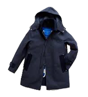 ×マッキントッシュ フード付きステンカラーコート