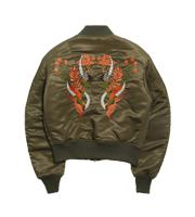 刺繍MA-1ジャケット
