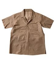 シープスキンレザー ショートスリーブシャツ  状態 A