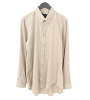 【18SS】ストライプ オーバーサイズ長袖シャツ