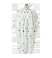 プラス刺繍リネン七分袖ワンピースプラス刺繍リネン七分袖ワンピース