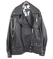 チェーンデザインオーバーサイズ レザージャケット