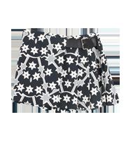 レザーベルトデザインラップスカート