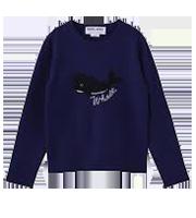 13AWクジラ柄ウールセーター