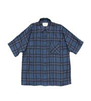 ドロップスリーブチェックシャツ