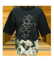 レースレイヤードTシャツ