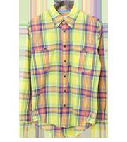 ×ユニクロ チェックシャツ
