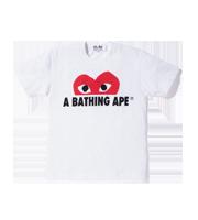 ×アベイジングエイプ ロゴプリントTシャツ