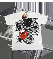 ×岡本太郎 ハートロゴ総柄Tシャツ
